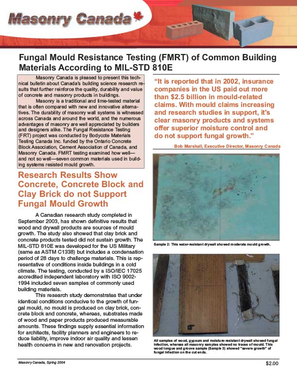 Fungal Mould Resistance Testing